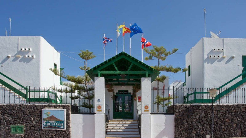 Entrance to Club Las Calas resort Lanzarote