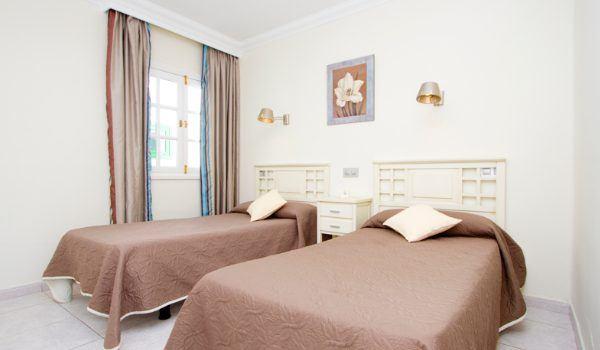Club Las Calas twin bedroom accommodation