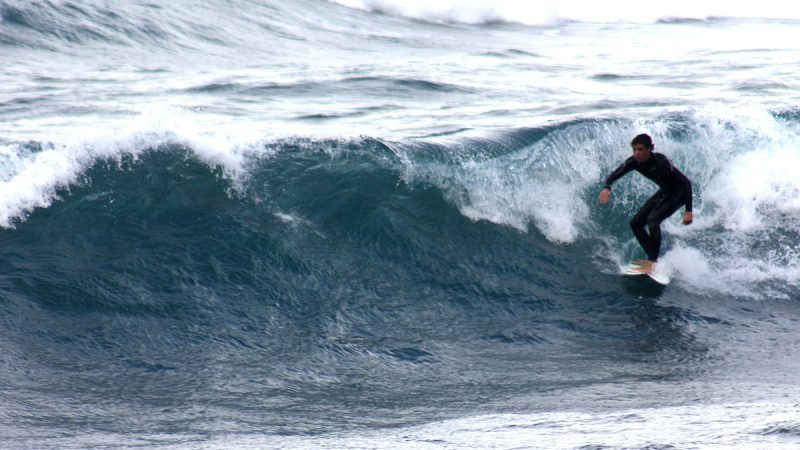 Learn surfing in Lanzarote at Famara Beach