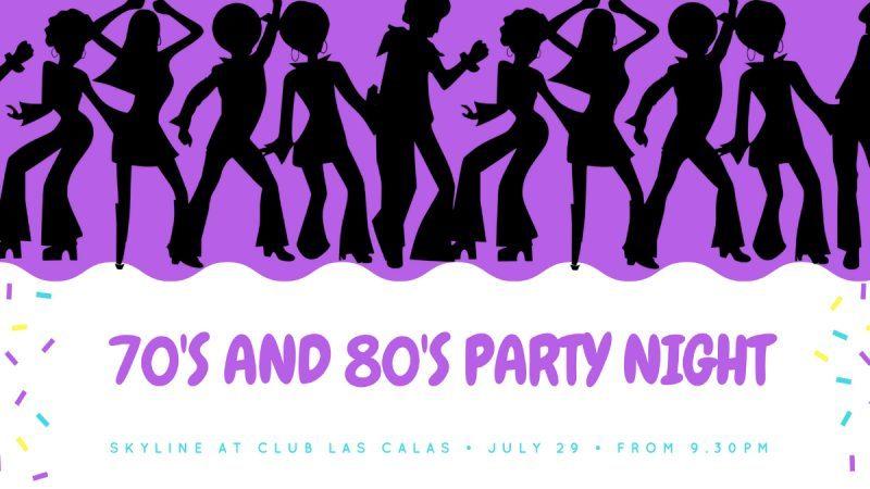 70s and 80s party night Club Las Calas Lanzarote